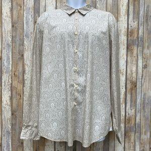 John Varvatos Luxe USA Paisley Button Down Shirt